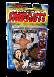 Chris Sabin Autographed MARVEL Best OF TNA SERIES 2 Figure