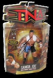 Samoa Joe Autographed MARVEL TNA Series 5 Figure (Variant)