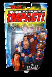 AJ Styles Autographed MARVEL TNA IMPACT! Series 3 Figure