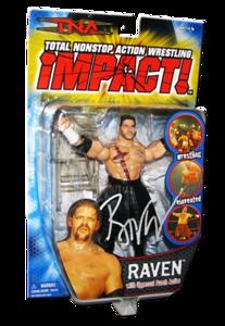 Raven Autographed MARVEL TNA IMPACT! Series 1 Figure