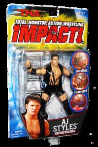 AJ Styles Autographed MARVEL TNA IMPACT! Series 1 Figure