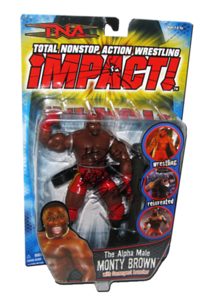 Monty Brown Autographed MARVEL TNA IMPACT! Series 3 Figure