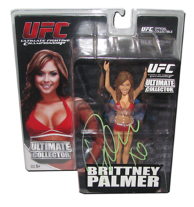 Brittney Palmer Autographed UFC Series 11 Round 5 Figure (Red Outfit Variant)