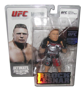 Brock Lesnar Autographed UFC Ultimate Collector Series 8 Limited Edition Round 5 Figure