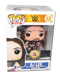 AJ Lee Autographed WWE EXCLUSIVE Pop! Funko Vinyl Figure