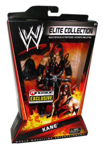 """Kane Autographed Mattel WWE ELITE COLLECTION """"Masked Kane"""" Ringside Collectibles Exclusive Figure"""