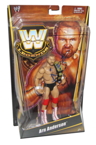 Arn Anderson Autographed Mattel WWE LEGENDS Exclusive Figure