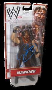 "Mankind aka Mick Foley Autographed WWE Basic Mattel ""Amazon Exclusive"" Figure"
