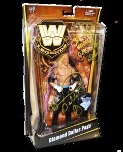 Diamond Dallas Page Autographed Mattel WWE LEGENDS Exclusive Figure