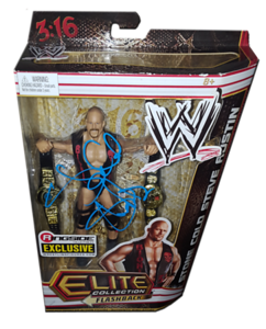 """Stone Cold Steve Austin Autographed Mattel WWE """"Texas Rattlesnake"""" ELITE COLLECTION FLASHBACK """"Ringside Collectibles"""" Exclusive Figure - JHM CREATIONZ"""