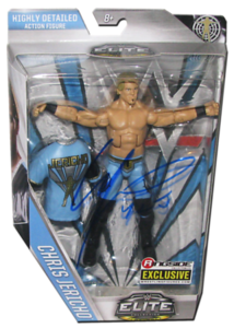 "Chris Jericho Autographed Mattel WWE ""Y2J"" ELITE COLLECTION FLASHBACK ""Ringside Collectibles"" Exclusive Figure"