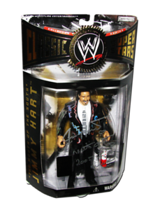 Jimmy Hart Autographed JAKKS Pacific WWE Classic Superstars Toy Fair 2006 Exclusive 1 Of 100 Figure