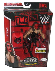 """Sting Autographed Mattel WWE """"NWO Wolfpac"""" ELITE COLLECTION FLASHBACK """"Ringside Collectibles"""" Exclusive Figure"""