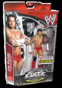 """CM Punk Autographed Mattel WWE """"ECW CM Punk"""" ELITE COLLECTION FLASHBACK """"Ringside Collectibles"""" Exclusive Figure"""