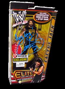 "Cactus Jack (Mick Foley) Autographed Mattel WWE ELITE COLLECTION FLASHBACK ""Hardcore Legend"" Ringside Collectibles Exclusive Figure"