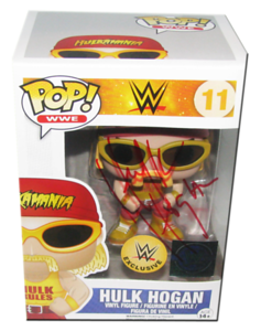 Hulk Hogan Autographed WWE EXCLUSIVE POP! Funko Vinyl Figure
