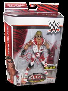 "Shawn Michaels Autographed Mattel WWE ""Heartbreak Kid (HBK)"" ELITE COLLECTION FLASHBACK ""Ringside Collectibles"" Exclusive Figure"