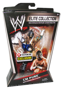 """CM Punk Autographed Mattel WWE ELITE COLLECTION """"Straight Edge Society"""" Ringside Collectibles Exclusive Figure"""