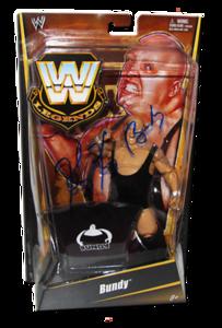 King Kong Bundy Autographed Mattel WWE LEGENDS Exclusive Figure