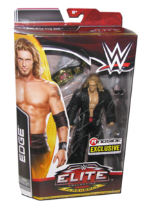 """Edge Autographed Mattel WWE """"Rated R Edge"""" ELITE COLLECTION FLASHBACK """"Ringside Collectibles"""" Exclusive Figure"""
