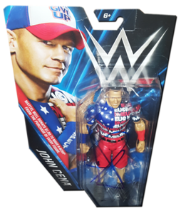 John Cena Autographed WWE Make-A-Wish Exclusive Basic Mattel Figure - JHM CREATIONZ