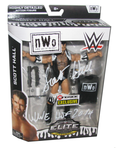"""Scott Hall Autographed Mattel WWE """"NWO"""" ELITE COLLECTION FLASHBACK """"Ringside Collectibles"""" Exclusive Figure"""