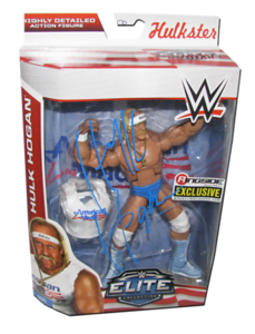 """Hulk Hogan Autographed Mattel WWE """"American Made"""" ELITE COLLECTION FLASHBACK """"Ringside Collectibles"""" Exclusive Figure"""