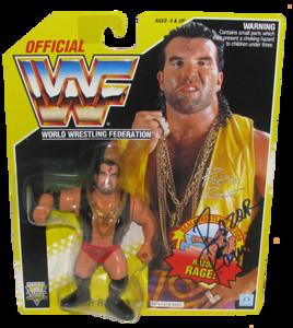 Razor Ramon Autographed WWF Hasbro (Yellow Card) Series 7 Figure