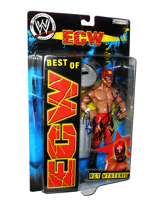Rey Mysterio Autographed JAKKS Pacific WWE BEST OF ECW Figure