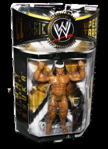 """Jimmy """"Superfly"""" Snuka Autographed JAKKS Pacific WWE Classic Superstars Series 3 Figure"""