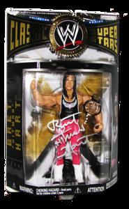 "Bret ""Hitman"" Hart Autographed JAKKS Pacific WWE Classic Superstars Series 1 Figure"