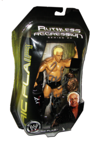 Ric Flair Autographed JAKKS Pacific WWE RUTHLESS AGGRESSION Series 20 - 1 of 500 Figure