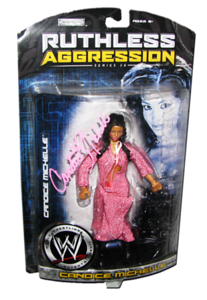 Candice Michelle Autographed JAKKS Pacific WWE RUTHLESS AGGRESSION Series 26 Figure