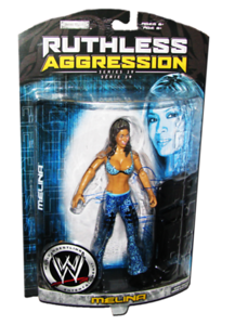 Melina Autographed JAKKS Pacific WWE RUTHLESS AGGRESSION Series 29 Figure