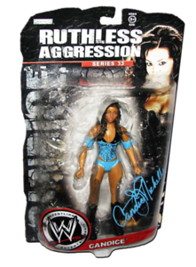 Candice Michelle Autographed JAKKS Pacific WWE RUTHLESS AGGRESSION Series 33 Figure