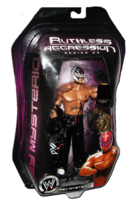 Rey Mysterio Autographed JAKKS Pacific WWE RUTHLESS AGGRESSION Series 23 - 1 of 500 Figure