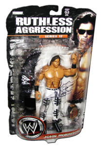 John Morrison Autographed JAKKS Pacific WWE RUTHLESS AGGRESSION Series 32 - 1 of 500 Figure