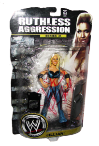 Jillian Hall Autographed JAKKS Pacific WWE RUTHLESS AGGRESSION Series 31 Figure