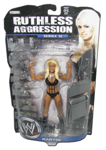 Maryse Autographed JAKKS Pacific WWE RUTHLESS AGGRESSION Series 36 Figure