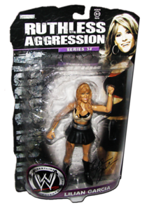 Lilian Garcia Autographed JAKKS Pacific WWE RUTHLESS AGGRESSION Series 34 Figure