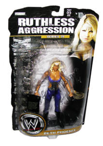 Beth Phoenix Autographed JAKKS Pacific WWE RUTHLESS AGGRESSION Series 35 Figure