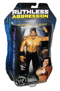 The Great Khali Autographs JAKKS Pacific WWE RUTHLESS AGGRESSION Series 24 - 1 of 500 Figure