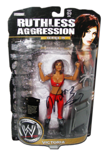 Victoria Autographed JAKKS Pacific WWE RUTHLESS AGGRESSION Series 35 Figure