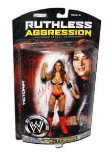 Victoria Autographed JAKKS Pacific WWE RUTHLESS AGGRESSION Series 28 Figure