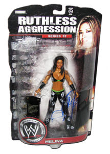Melina Autographed JAKKS Pacific WWE RUTHLESS AGGRESSION Series 33 Figure
