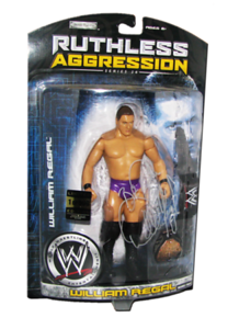 William Regal Autographed JAKKS Pacific WWE RUTHLESS AGGRESSION Series 26  - 1 of 500 Figure