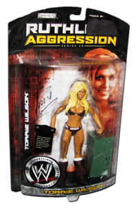 Torrie Wilson Autographed JAKKS Pacific WWE RUTHLESS AGGRESSION Series 28 Figure