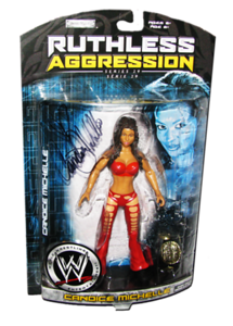 Candice Michelle Autographed JAKKS Pacific WWE RUTHLESS AGGRESSION Series 29 Figure