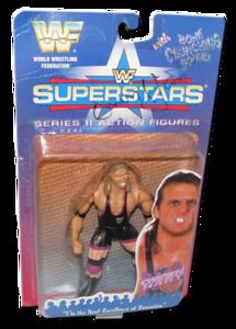 Owen Hart Autographed JAKKS Pacific WWF Superstars Series 2 Figure