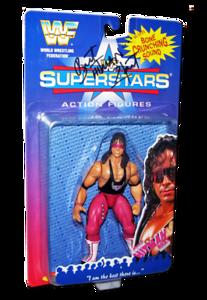 Bret Hart Autographed JAKKS Pacific WWF Superstars Series 1 Figure